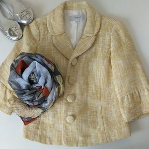 🌻 Merona Yellow Tweed Peacoat Jacket